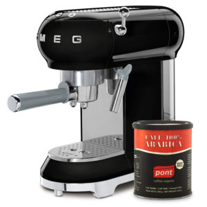 Cafetera Smeg negra